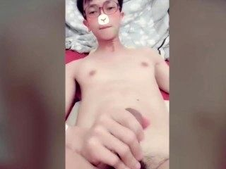 Chinese Cute Young Brother Masturbation 我的中国可爱弟弟手淫