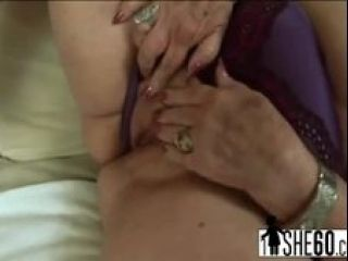 Slutty Blonde Granny With Huge Breasts Blows And Rides Horny Dude S Stiff Penis