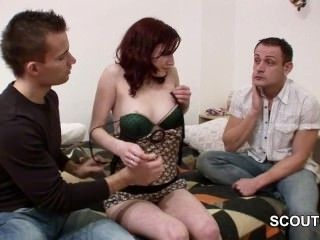 German Boy sell his girlfriend for Money and get Cuckold (6)