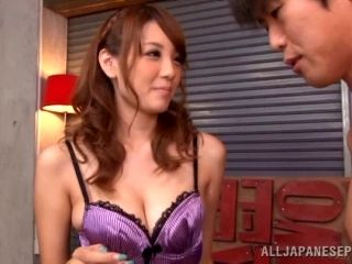 Kinky Japanese girl pegs her man by fucking him with a strapon