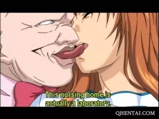 Sex starved Hentai brunette riding hard cock (5)