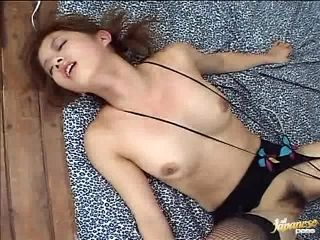 Japanese AV Model Gets Hot Pussy Drilled with Sex Toys