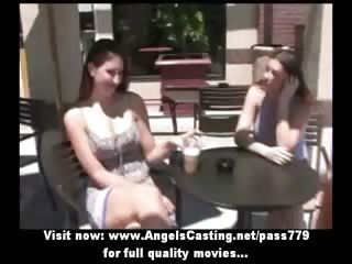 Caprice and Salma and Mya lesbians singering and licking pussy in a lesbian orgy