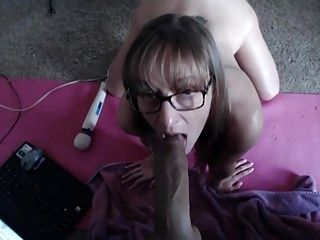 Big Black Dildo For Her Tight Twat