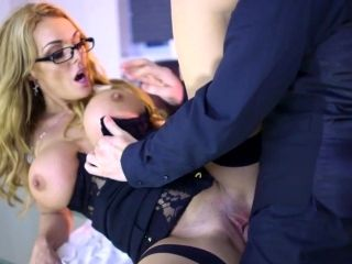 Jaw Dropping Secretary Spinning Inches Of Dick While At Work