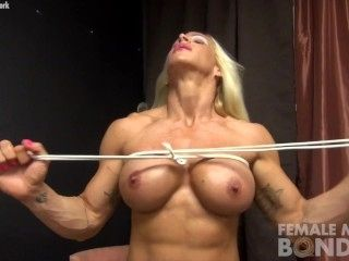 Muscular Blonde Big Tits and Rope (2)