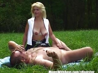 MILF Blonde Picked-Up And Fucked In Open Field (4)