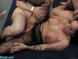 busty babe Ashley Cum Star in a real gangbang (9)