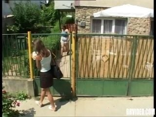 Mature amateur German moans in pleasure in a rough doggystyle outdoors