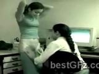 2 Gorgeous best girl friends caught fucking in the office