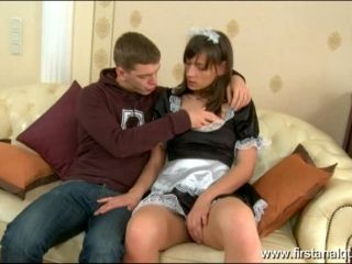 Horny French maid loves anal