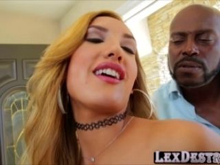 Blonde and horny Chloe Amour gets fucked hard by Lexing