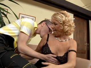 A Blonde Granny Gets Her Elderly Pussy Pounded By A Younger Guy