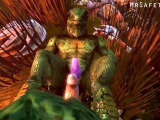 Lizardman Bondages You And Gives You A Footjob Till You Cum!