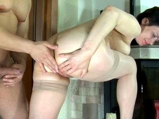 Elsa and Nicholas anal mature in action