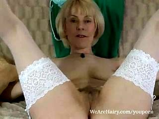 Hot Mature Hazel And Her Moist Hairy Pussy