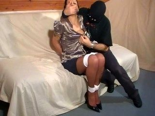 Misty Grease Tied up and Gagged