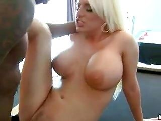 Blonde Babe Takes Black Cock