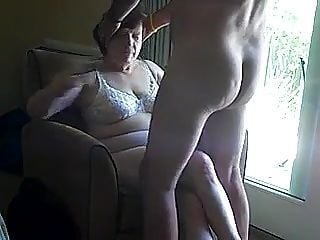 Fucking Granny Comsluts mouth in front of a window (2)