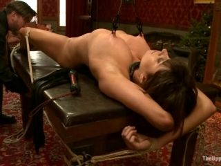 Submissive Slut Gets Tied Up To The Torture Table And Punished Properly