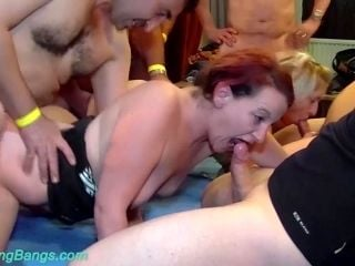 Extreme Wild German Fisting Chicks In A Real Double Gangbang Bukkake Fuck Party Orgy