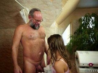 She Fingers His Old Man Asshole