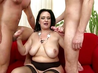Mature Bigtit Mother Seduced By Two Sons (2)
