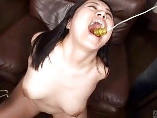Subtitled CMNF bizarre JAV throat and nipple teasing (3)
