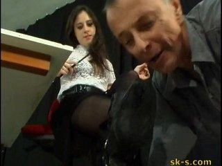 Italian Mistress Filthy Boot Cleaning