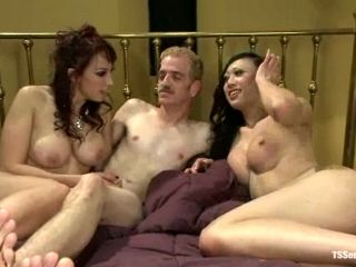 DP For Nicki Hunter by Shemale and Guy and DAP For Guy with Cock and Strapon