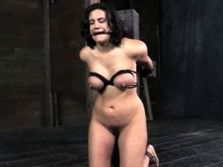 Busty Bdsm Sub Tied And Caned By Guy (4)