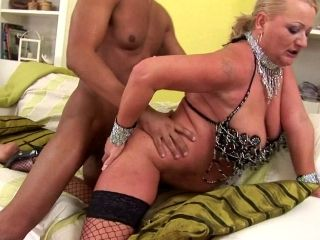 Dirty Granny Whore Fucked In The Ass By A Black Cock
