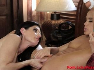 Lesbian Megan is so horny giving her to force India for sex (2)