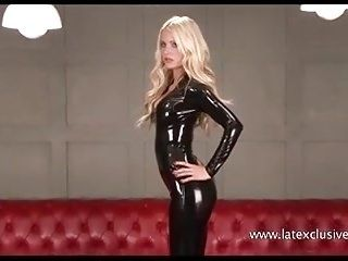 Blonde Alex in latex fetish wear and softcore solo girl in k
