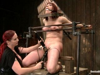 Incredibly intense BDSM session with redhead whore
