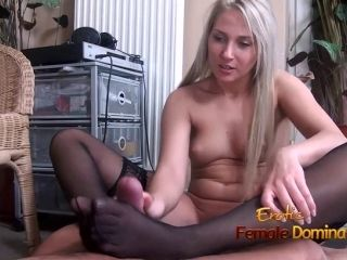 Xhamster Com 5930260 Stockinged Footjob From A Pantyless Blonde 720P