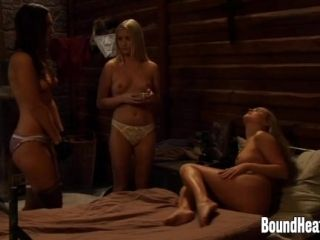 Two Enslaved Girls Pleasuring Mistress With Massage (3)