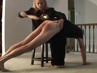 Mommy Paddles Hubby Over Her Knee