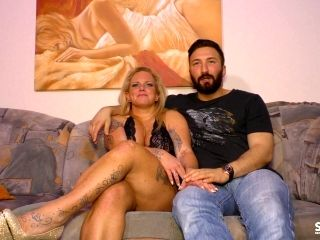 Chubby Blonde Is Great At Seducing A Bearded Guy For A Shag