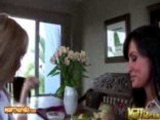 Lisa Ann And Julia Ann Seduce Each Pother With The Right Touch For Muffia