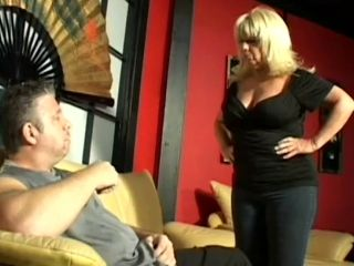 Ginni Lewis gets cum all over her big tits