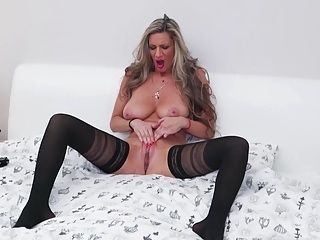 Real MILF with big chest and hungry ass