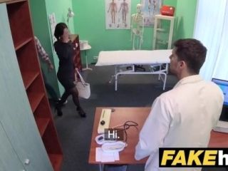 Fake Hospital Czech doctor cums over horny cheating wifes tight pussy (2)