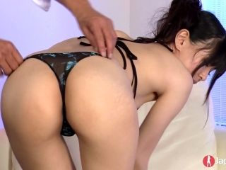 Japanese hairy pussy of Nozomi Koizumi is fucked with fingers and vibro egg