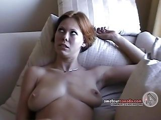 Hairy Native wife flashes huge tits on balcony then fingers (2)
