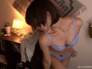 Airi is a skinny Japanese lass who loves holding a dick in her hand