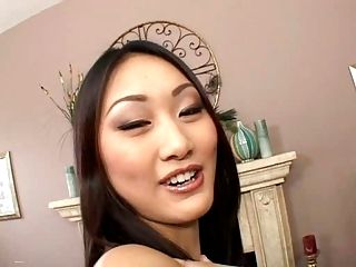 Evelyn Lin - Shaved pussy anal and swallowing