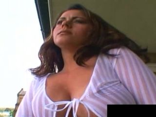 Gangbanging the curvaceous Jewel with the stiff cocks of her dreams
