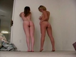 Two Adorable White Girls Of Summer Flashing Booties Nude