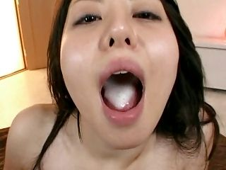 Ai Takeuchi swallows sperm